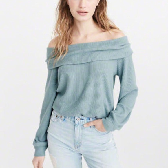 d94d8098e47 Abercrombie & Fitch Sweaters | Abercrombie Fitch Off Shoulder Ribbed ...